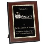 Thick Edge Gold/Black Brass on Wood Presentation Award